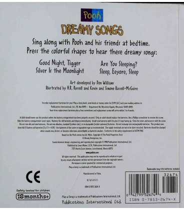 Dreamy Songs Back Cover