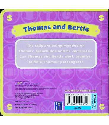 Thomas and Bertie (Thomas & Friends) Back Cover
