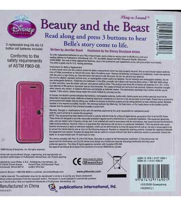 Disney Beauty and the Beast Back Cover