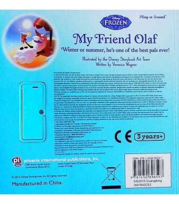 Disney My Friend Olaf Back Cover