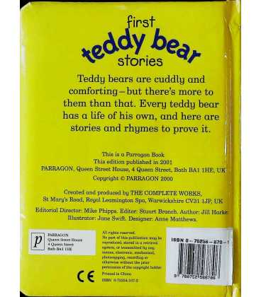 First Teddy Bear Stories Back Cover