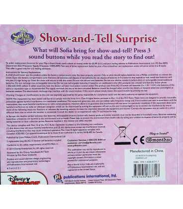 Sofia the First - Show-and-Tell Surprise Back Cover