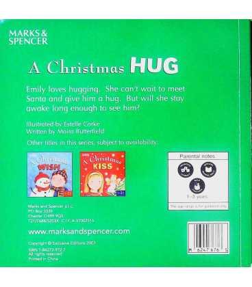 A Christmas Hug Back Cover