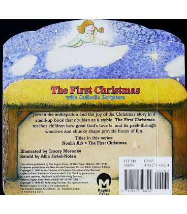 The First Christmas: With Catholic Scripture (Little Bible Playbooks) Back Cover