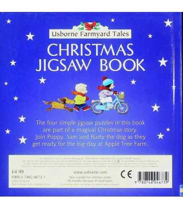 Christmas Jigsaw Book (Farmyard Tales) Back Cover