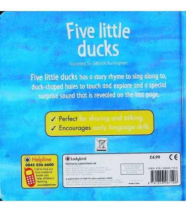 Five Little Ducks Back Cover