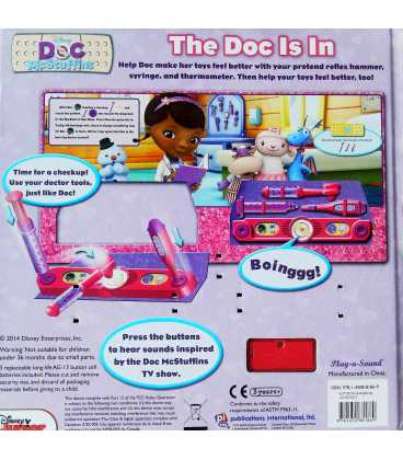 Doc Mcstuffins the Doc Is in Back Cover