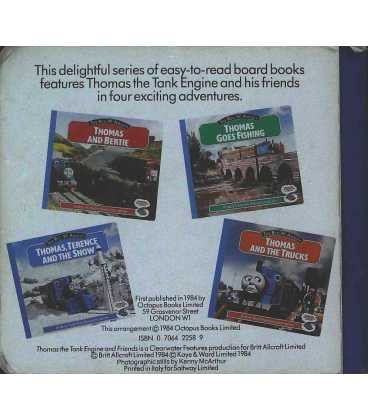 Thomas and the Trucks Back Cover