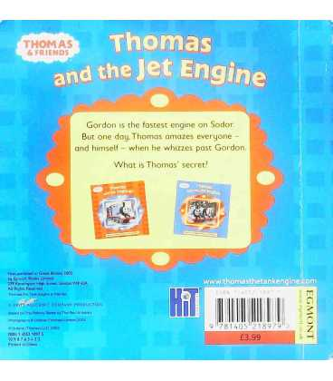 Thomas and the Jet Engine Back Cover