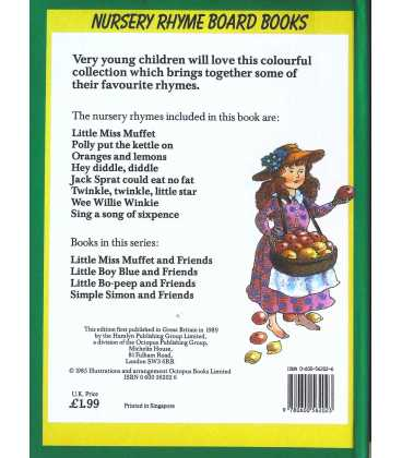 Little Miss Muffet and Friends Back Cover