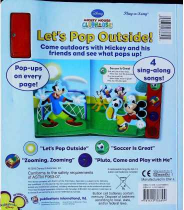 Let's Pop Outside! (Disney Mickey Mouse Clubhouse) Back Cover
