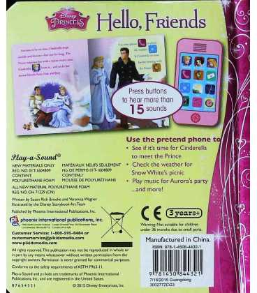 Disney Princess Back Cover