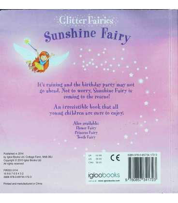 Sunshine Fairy (Glitter Fairies) Back Cover
