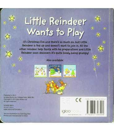 Little Reindeer Wants to Play Back Cover