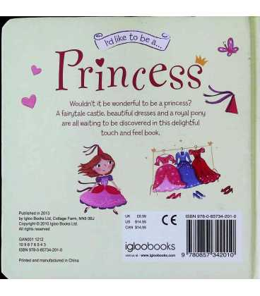 Princess (I'd Like to be) Back Cover