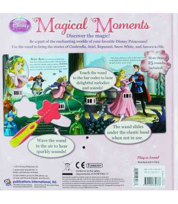 Disney Princess: Magical Moments Back Cover