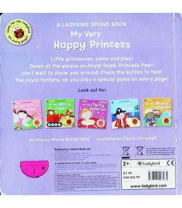 My Very Happy Princess Back Cover