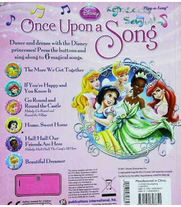 Once Upon a Song Back Cover