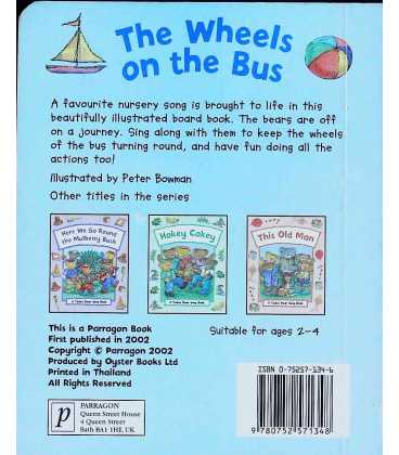 The Wheels on the Bus Back Cover