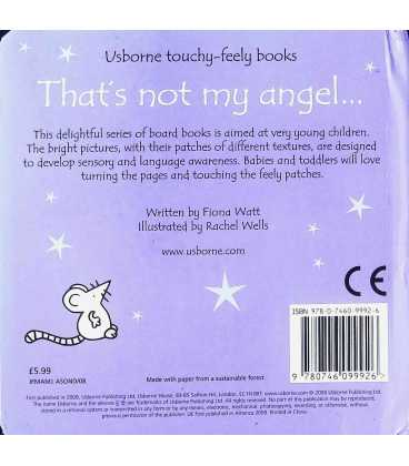 That's Not My Angel… (Usborne Touchy-Feely Books) Back Cover