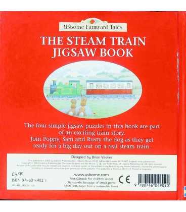 The Steam Train Jigsaw Book Back Cover