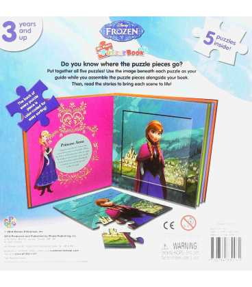Disney Frozen My First Puzzle Book Back Cover