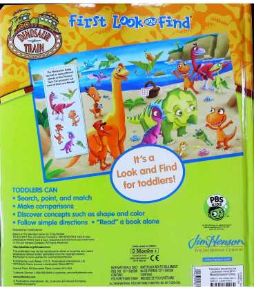 First Look and Find (Dinosaur Train) Back Cover