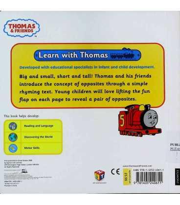 Opposites (Thomas & Friends) Back Cover