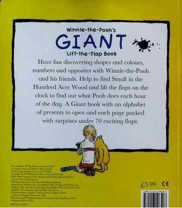 Winnie-the-Pooh's Giant Lift-the-flap Book Back Cover