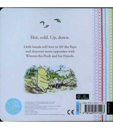 Winnie the Pooh Opposites: Lift the Flap book Back Cover