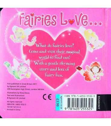 Fairies Love... Back Cover