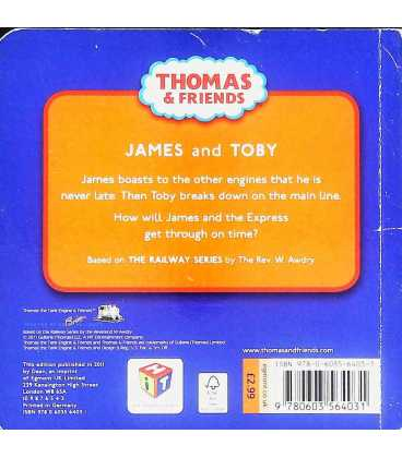 James and Toby (Thomas & Friends) Back Cover