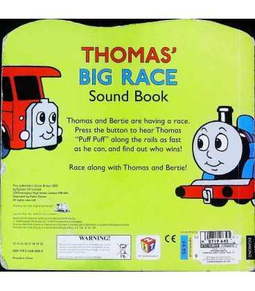 Thomas' Big Race: Sound Book (Thomas the Tank Engine) Back Cover