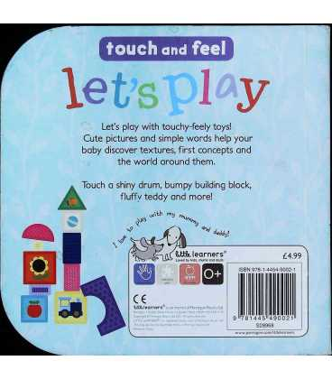 Lets Play Touch Feel Back Cover