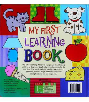 My First Learning Book Back Cover