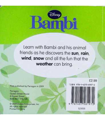 Rain and Shine (Bambi) Back Cover