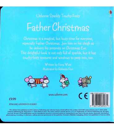 Usborne Sparkly Touchy-Feely: Father Christmas Back Cover
