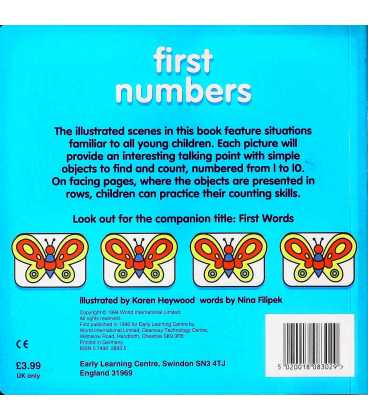 First Numbers Back Cover