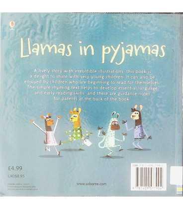 Llamas in Pyjamas Back Cover