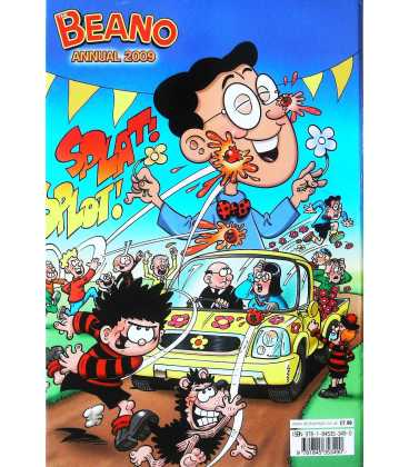 The Beano Annual 2009 Back Cover