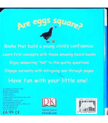 Are Eggs Square? (My First) Back Cover