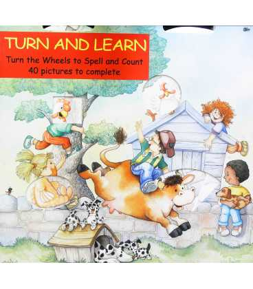 Turn and Learn: Turn the Wheels to Spell and Count, 40 Pictures to Complete