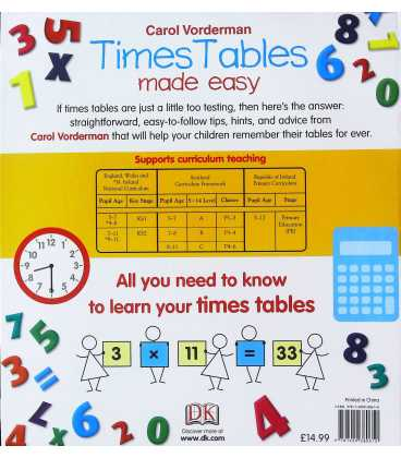 Times Table Made Easy Back Cover