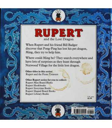 Rupert and the Lost Dragon Back Cover