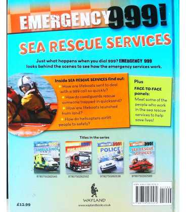 Sea Rescue Services (Emergency 999) Back Cover