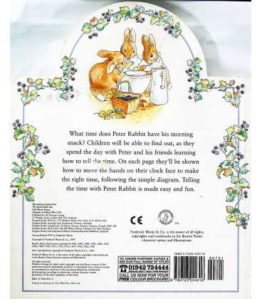 What Time Is It Peter Rabbit? Back Cover