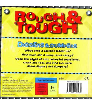 Diggers and Dumpers (Rough and Tough) Back Cover