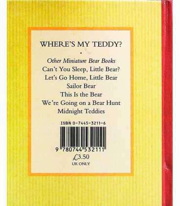 Where's My Teddy? Back Cover