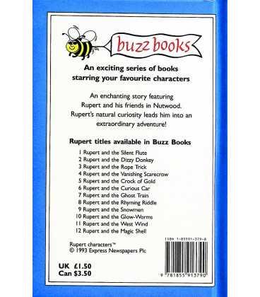 Rupert and the Snowmen (Rupert Buzz Book 9) Back Cover