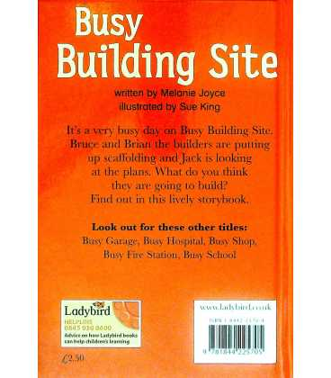 Busy Building Site Back Cover
